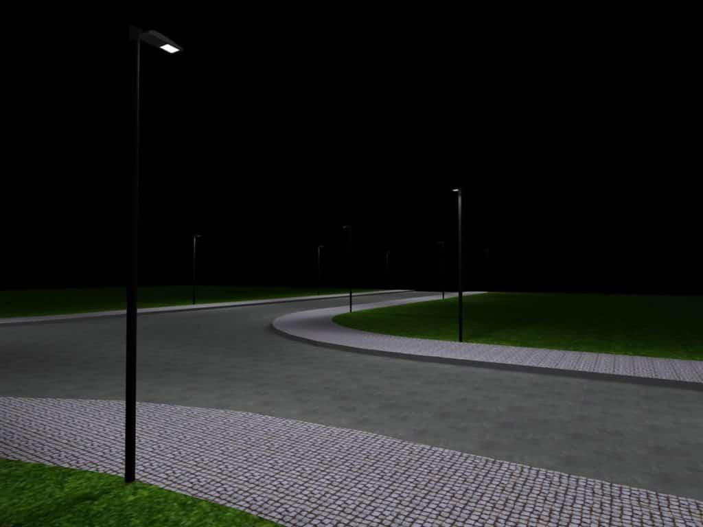 Straßenbeleuchtung 3D-Plan