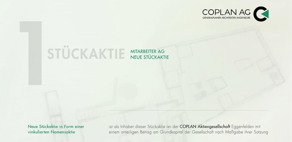 Mitarbeiter Aktie der COPLAN AG