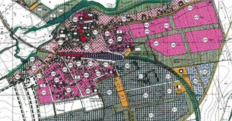 Flächenplanung Plan