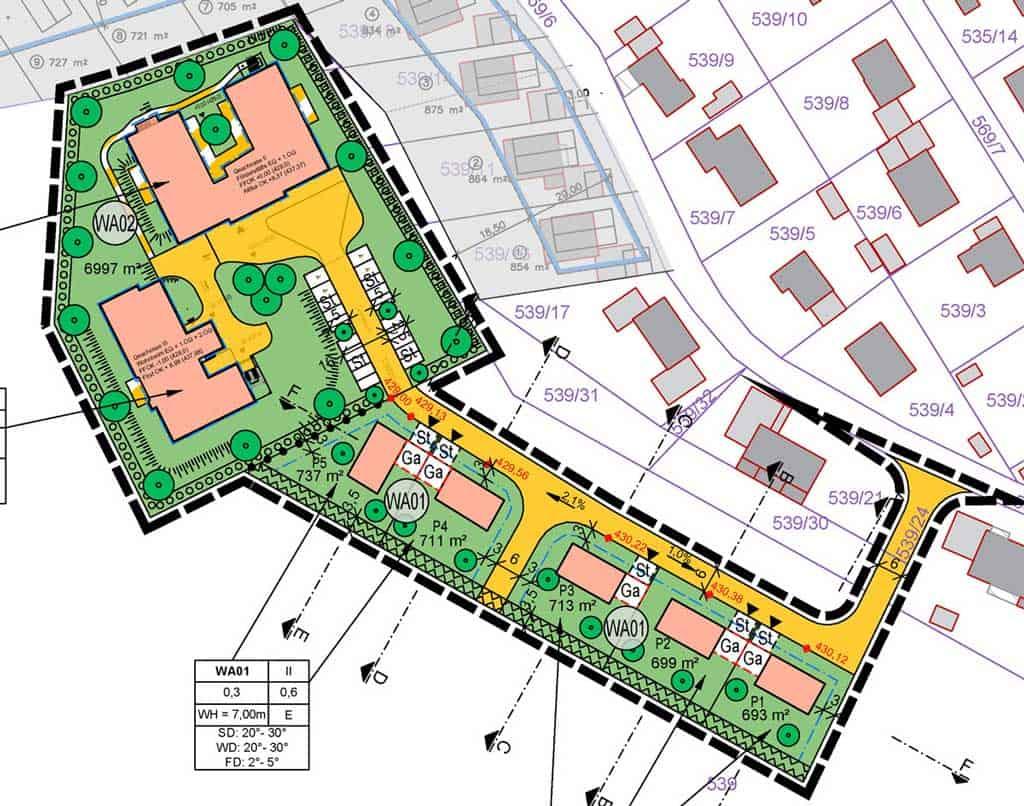 Städteplanung Plan