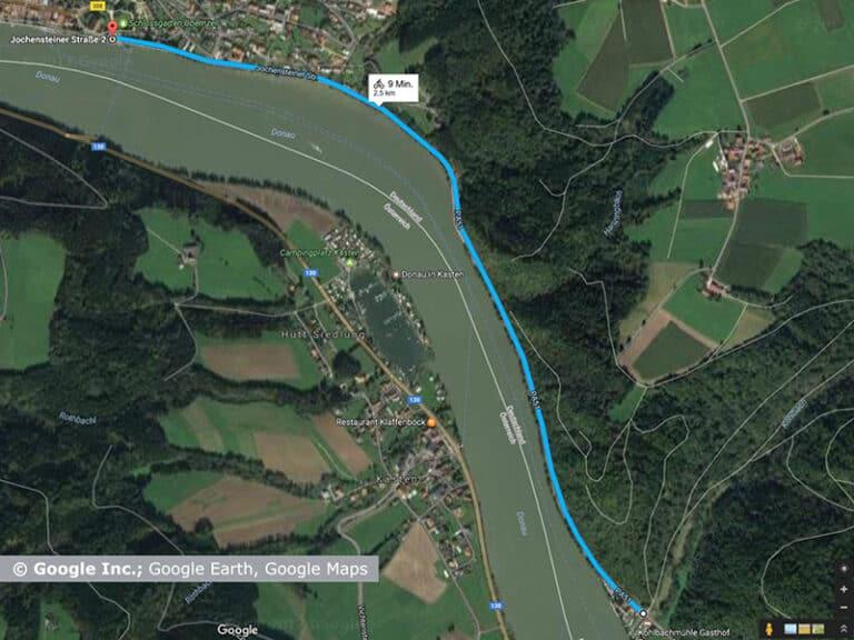 Donauradweg Teilabschnitt Obernzell – Kohlbachmühle