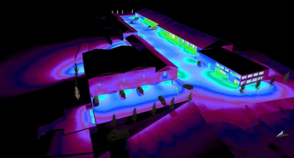 Elektrotechnik Bauhof Benk Beleuchtungssimulation