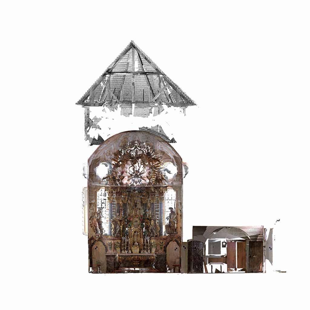 Kirche Anzenberg 3D-Punktwolke