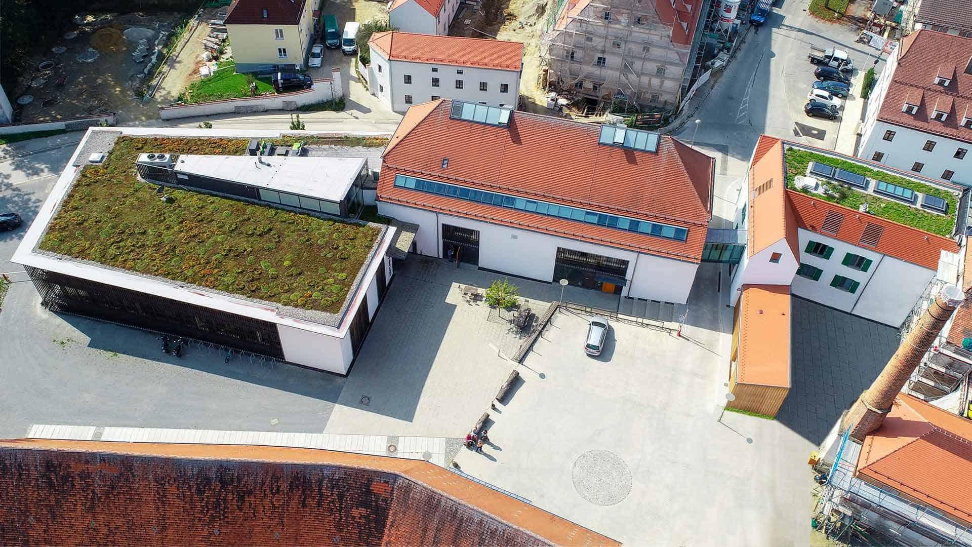 COPLAN AG Firmenzentrale Eggenfelden, Gern Drohnenflug