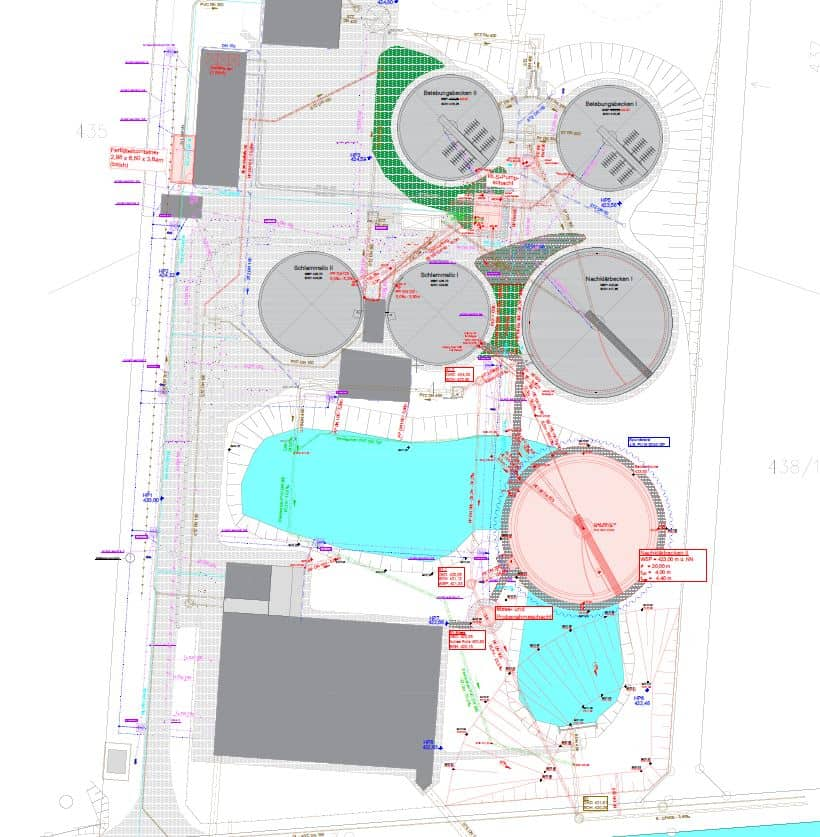 Lageplan Kläranlage Massing